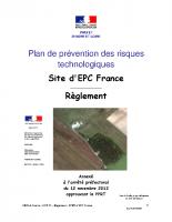 EPC-France-PPRT-reglement